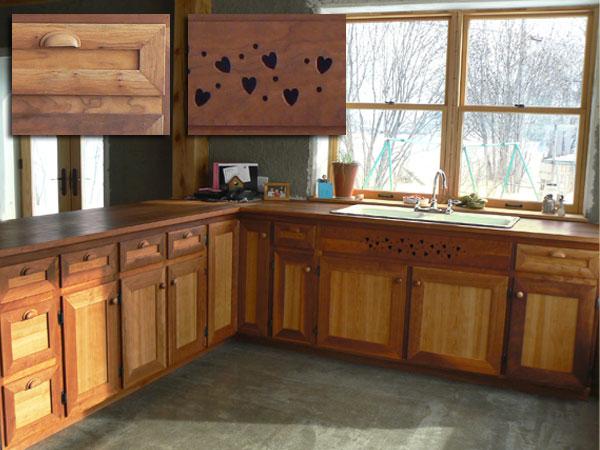 Renovation cuisine salle manger salon for Armoires de cuisine en bois