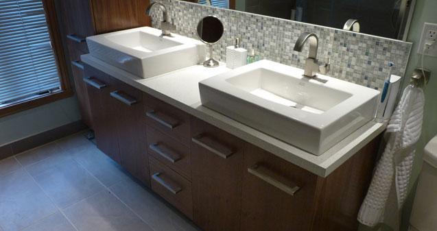 Meubles et objets de bois marc boucher artisan b niste - Meuble salle de bain noyer ...